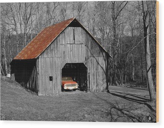 Old Rusty Barn  Wood Print