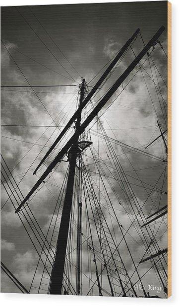 Old Sailing Ship Wood Print