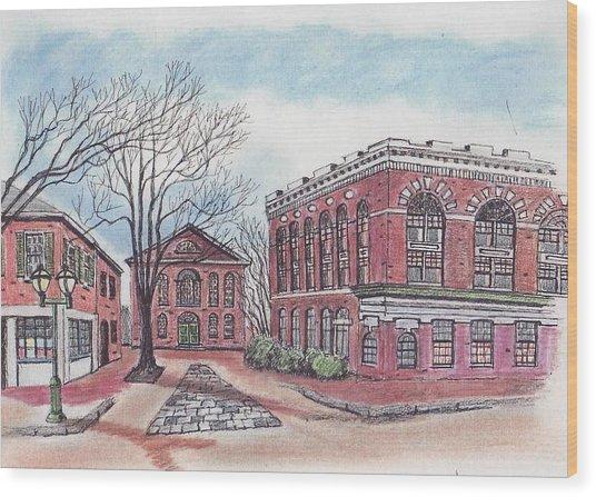 Old Salem City Hall Wood Print