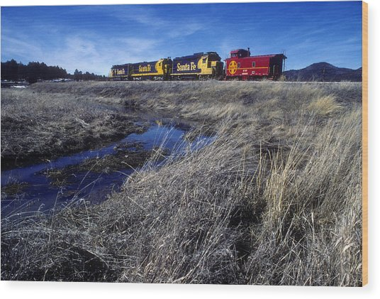 Wood Print featuring the photograph Old Sante Fe Waits In Williams Arizona by David Bailey