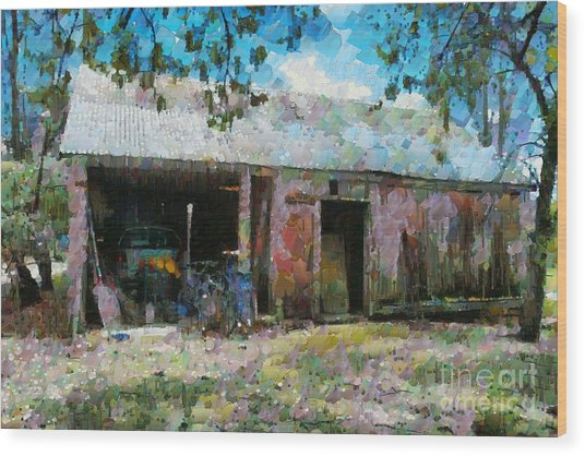 Old Shed Near Braidwood Wood Print