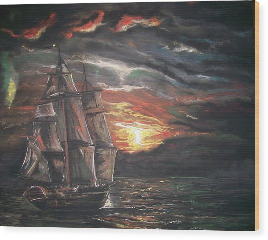 Old Ship Of The Sea Wood Print