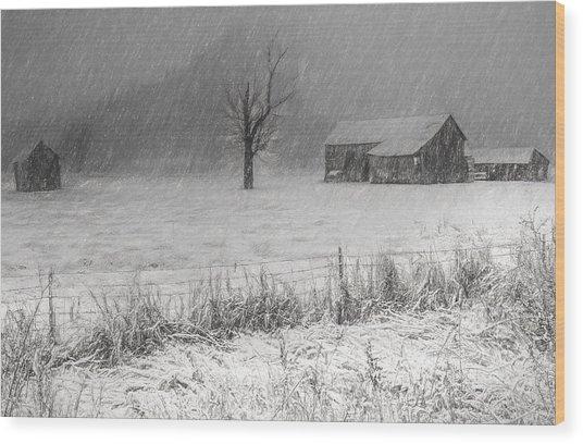 Old Sod Farm Wood Print