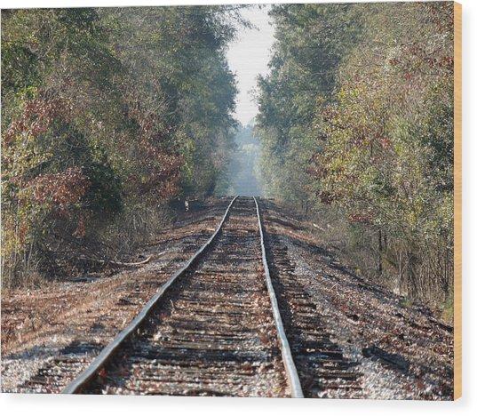 Old Southern Tracks Wood Print