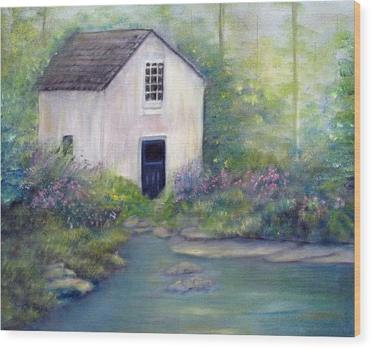Old Springhouse Wood Print