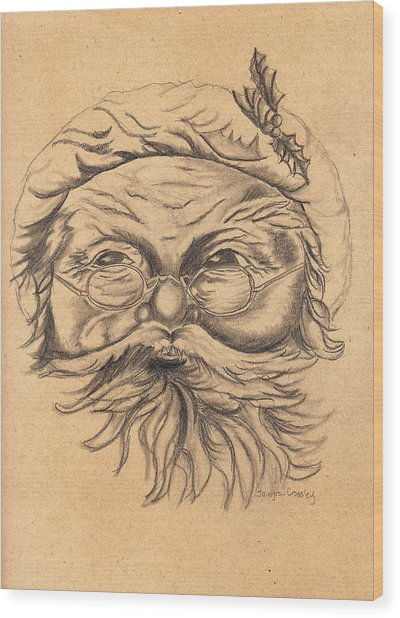 Old St. Nick Wood Print