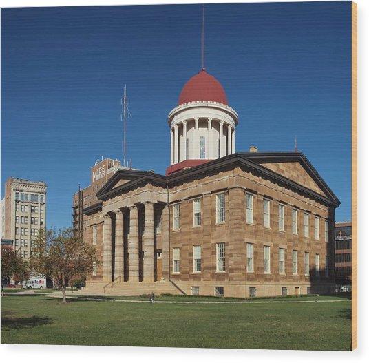 Old State Capital Springfield Illinois Wood Print