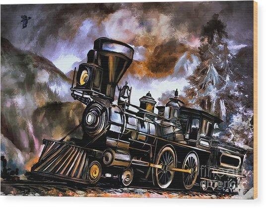 Old Steam Engine  Wood Print by Andrzej Szczerski