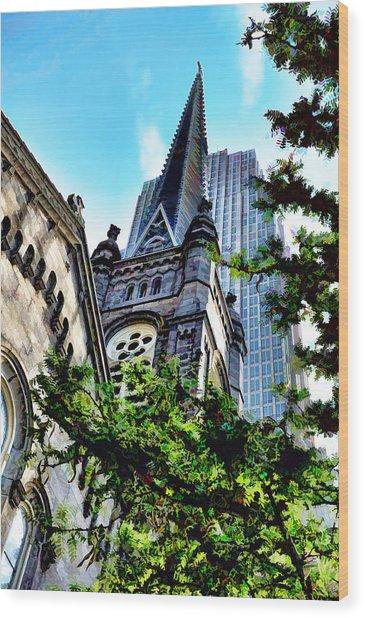 Old Stone Church - Cleveland Ohio - 1 Wood Print