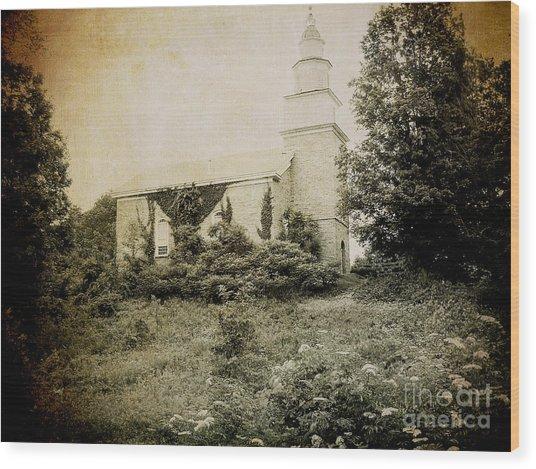 Old Stone Church In Rhinebeck Wood Print