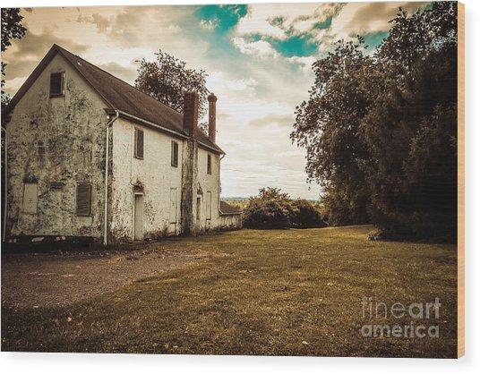 Old Stone House Wood Print