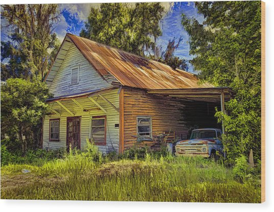 Old Store - Old Ford Wood Print