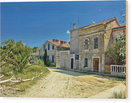 Old Streets Of Susak Island Wood Print