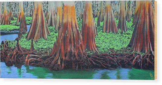 Old Swampy Wood Print