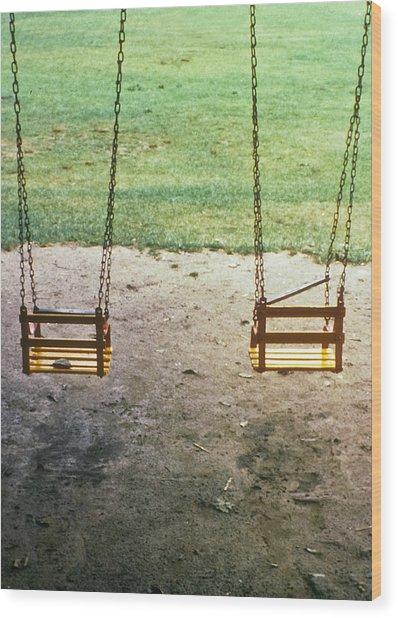 Old Swings In Brookdale Park Wood Print