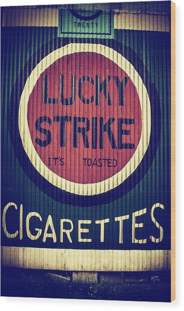 Old Time Cigarettes Wood Print