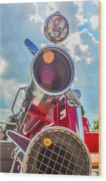 Old Time Fire Truck Series Wood Print by Kelly Kitchens