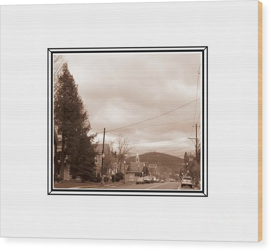 Old Time Main Street Wood Print