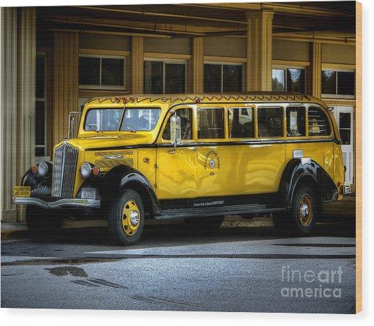 Old Time Yellowstone Bus II Wood Print