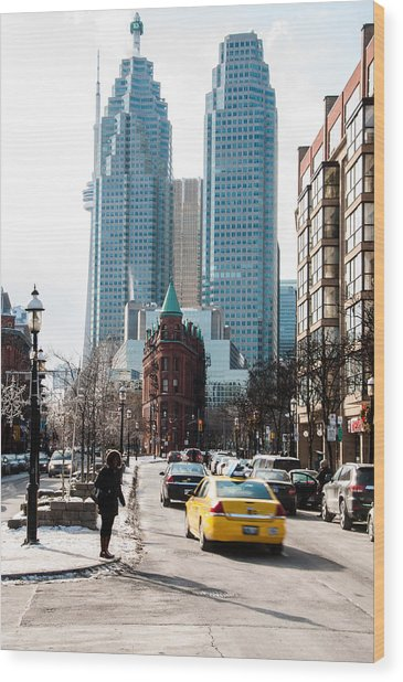 Wood Print featuring the photograph Old Toronto To New Toronto - Colour by Rosemary Legge