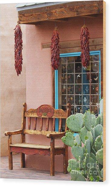 Old Town Albuquerque Shop Window Wood Print