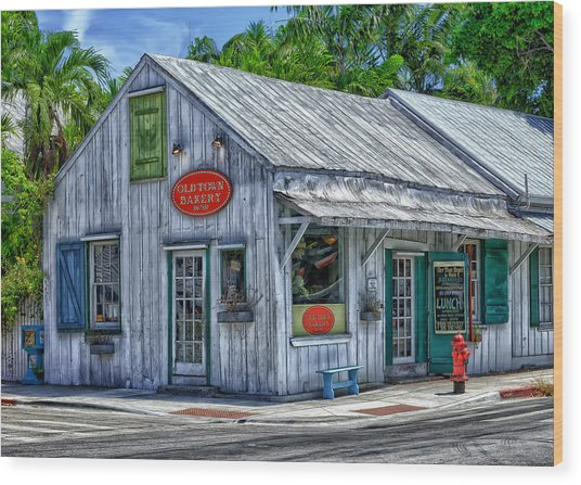 Old Town Bakery Wood Print