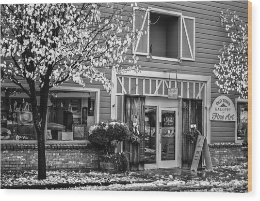Wood Print featuring the photograph Old Town Gallery 2 by Sherri Meyer