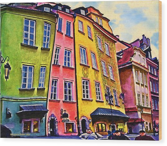 Old Town In Warsaw #4 Wood Print