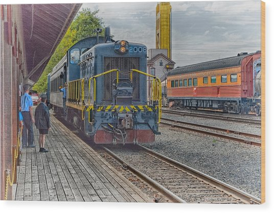 Wood Print featuring the photograph Old Town Sacramento Railroad by Jim Thompson