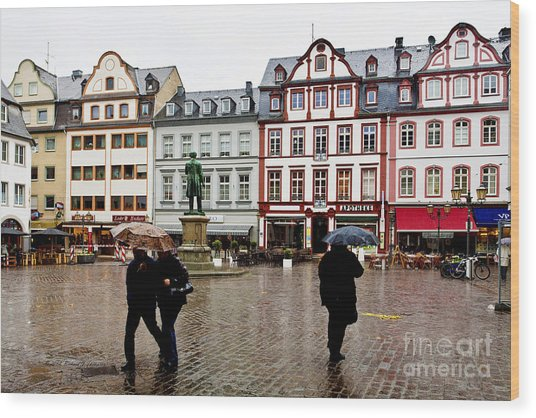 Old Town Square Wood Print