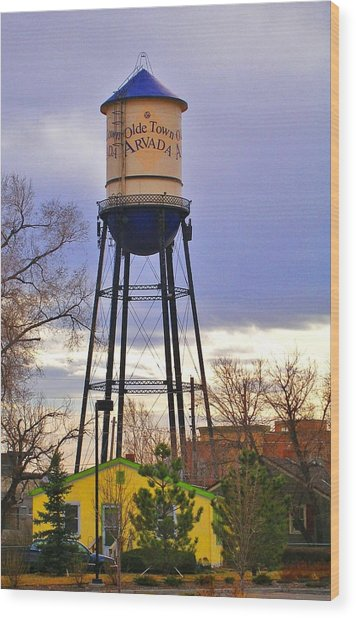 Old Towne Arvada Wood Print