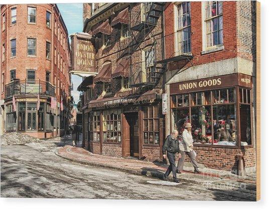 Old Towne Boston Wood Print