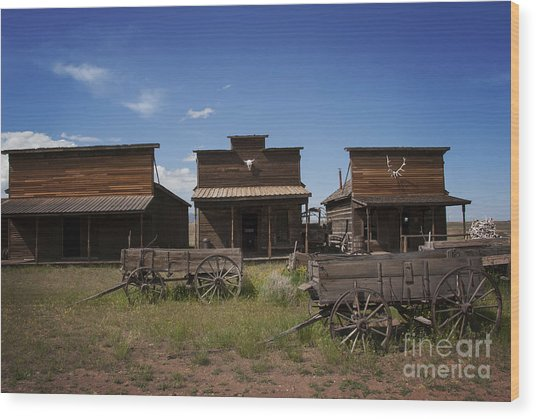 Old Trail Town Wood Print