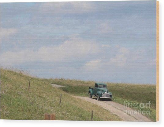 Wood Print featuring the photograph Old Truck by Ann E Robson