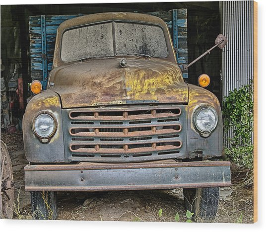 Old Truck Wood Print