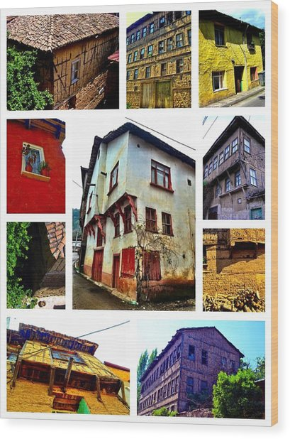 Old Turkish Houses Wood Print