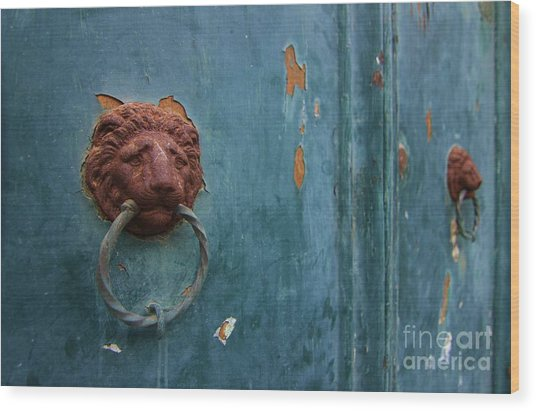 Old Venetian Door Knocker Wood Print