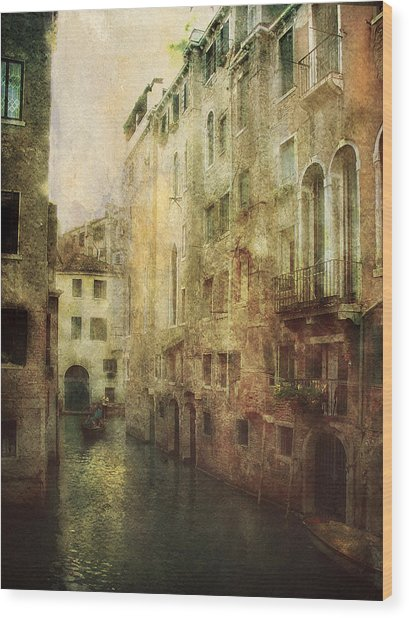 Old Venice Wood Print