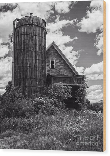 Old Vermont Barn And Silo Wood Print