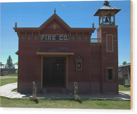 Old West Fire Station Wood Print