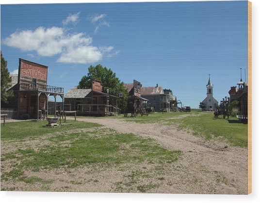 Old West Town Wood Print