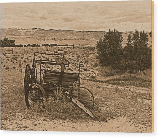 Old West Wagon Wood Print by Leland D Howard