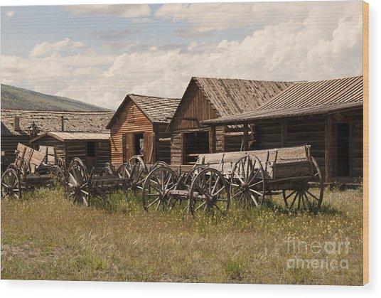 Old West Wyoming  Wood Print