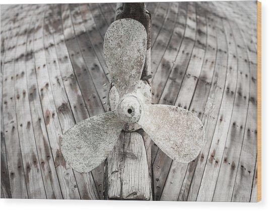 Propeller Wood Print