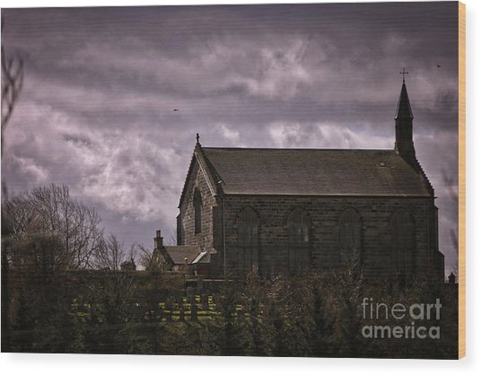 Old World Church Wood Print