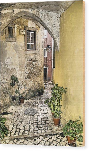 Old World Courtyard Of Europe Wood Print