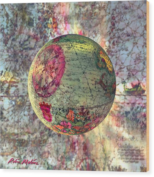 Old World Poppling Wood Print