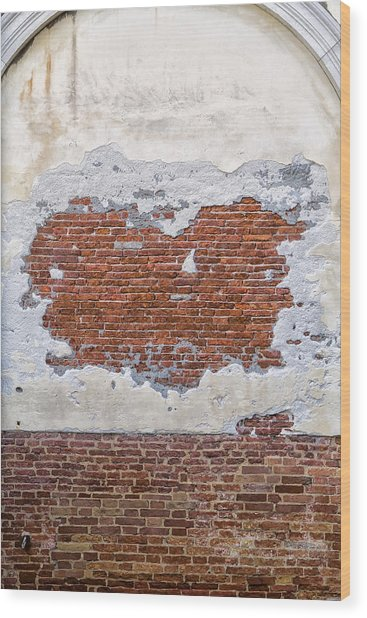 Old Worn Out Wall In Venice Wood Print by Francesco Rizzato