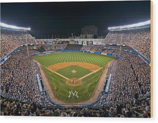 Old Yankee Stadium Wood Print