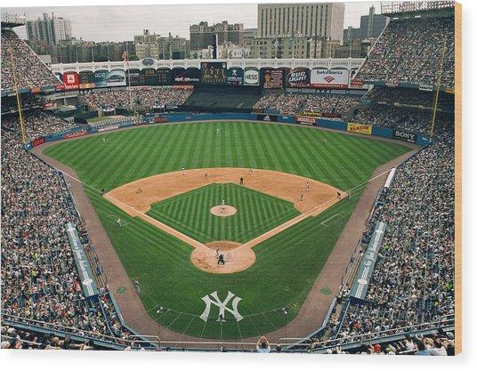 Old Yankee Stadium Photo Wood Print